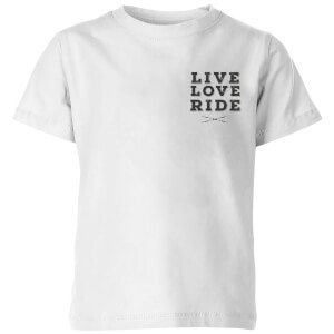 Live Love Ride Kids' T-Shirt - White