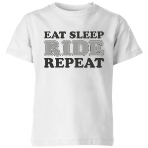 Eat Sleep Ride Repeat Kids' T-Shirt - White
