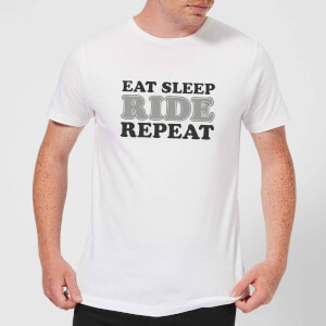 Eat Sleep Ride Repeat T-Shirt - White