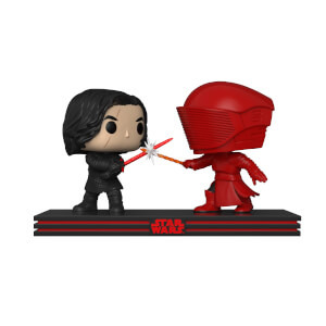 Pack 2 Figuras Exc. Pop! Movie Moments Duelo Kylo Ren y Guardia Pretoriana - Star Wars: Los últimos jedi