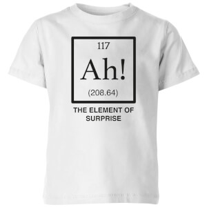 Ah The Element Of Surprise Kids' T-Shirt - White