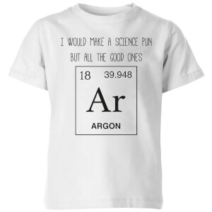 Periodic Pun Kids' T-Shirt - White