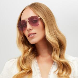 McQ Alexander McQueen Women's Aviator Sunglasses - Gold/Pink