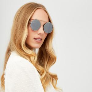 McQ Alexander McQueen Women's Aviator Sunglasses - Ruthenium/Silver