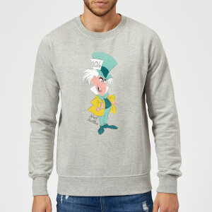 Disney Alice In Wonderland Mad Hatter Classic Sweatshirt - Grey