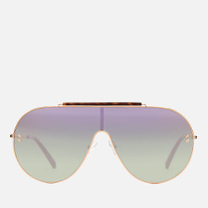 Stella McCartney Women's Large Aviator Sunglasses - Gold/Pink