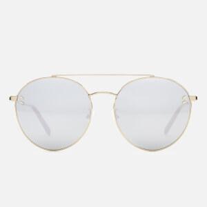 Stella McCartney Women's Round Frame Aviator Sunglasses - Gold/Silver