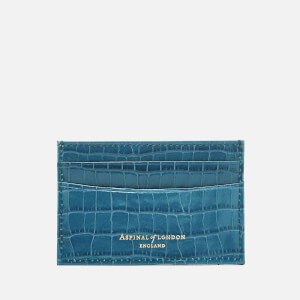 Aspinal of London Women's Slim Credit Card Case - Topaz
