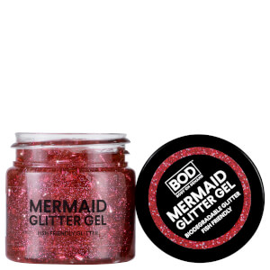 Gel corporal de brillantina Mermaid de BOD - Rosa