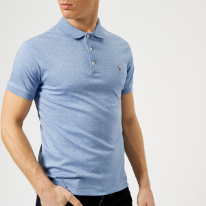 Polo Ralph Lauren Men's Pima Polo Shirt - Blue Heather