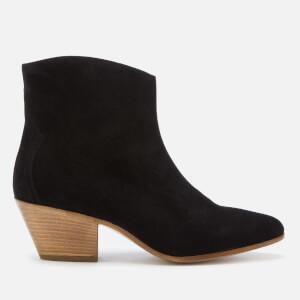 Isabel Marant Women's Dacken Velvet Leather Western Boots - Black