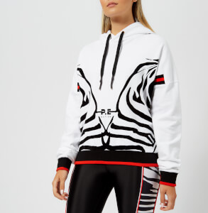 P.E Nation Women's Racing Stripes Hoody - White