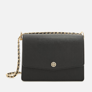 Tory Burch Women's Robinson Convertible Shoulder Bag - Black/Royal Navy