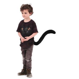 TellTails Wearable Black Cat Tail for Kids
