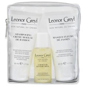 Leonor Greyl Luxury Travel Bag for Dry Hair (25ml x 50ml x 50ml)