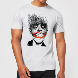 Batman Joker Face Of Bats T-Shirt - Grau