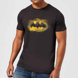 Batman Spray Logo T-Shirt - Schwarz