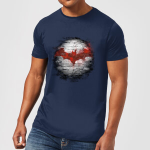 Camiseta DC Comics Batman Logo Pared - Hombre - Azul marino