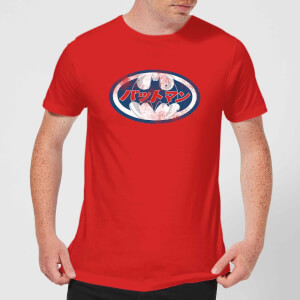 DC Comics Batman Japanese Logo T-Shirt in Red