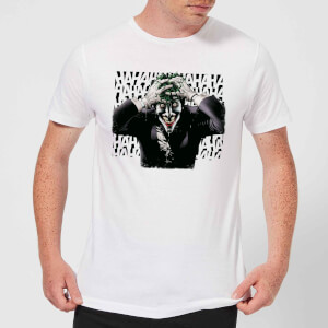 T-Shirt DC Comics Batman Killing Joker HaHaHa - Bianco