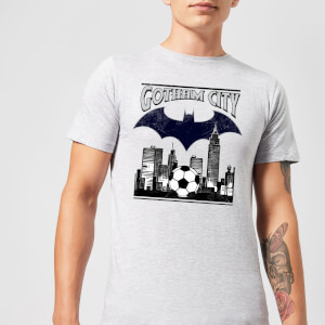 T-Shirt DC Comics Batman Football Gotham City - Grigio