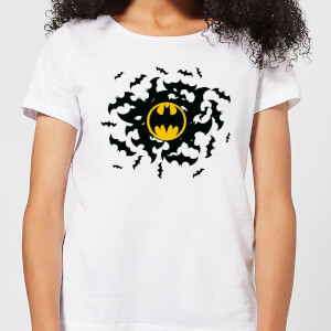 Batman Bat Swirl Damen T-Shirt - Weiß