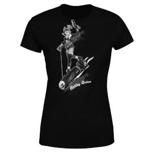 DC Comics Batman Harley Quinn Gotham Women's T-Shirt - Black