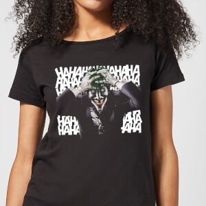 Batman Killing Joker HaHaHa Damen T-Shirt - Schwarz
