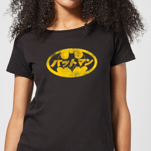 DC Comics Batman Japanese Logo Dames T-shirt - Zwart