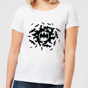DC Comics Batman Bat Swirl Women's T-Shirt - White