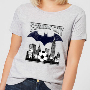 DC Comics Batman Football Gotham City Women's T-Shirt - Grey