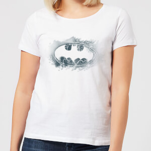 Camiseta DC Comics Batman Logo Spray - Mujer - Blanco