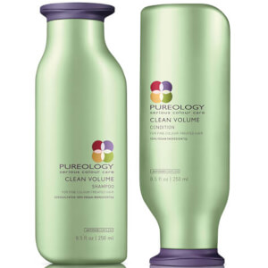 Dúo champú y acondicionador Clean Volume Colour Care de Pureology (250 ml)