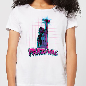 T-Shirt Femme Ready Player One Parzival Key - Blanc