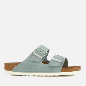 Birkenstock Women's Arizona Slim Fit Suede Double Strap Sandals - Light Blue