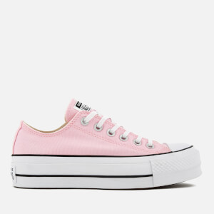 Converse Women's Chuck Taylor All Star Lift Ox Trainers - Cherry Blossom/White/Black