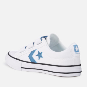 Converse Kids' Star Player 3V Ox Trainers - White/Aegean Storm/Black: Image 2