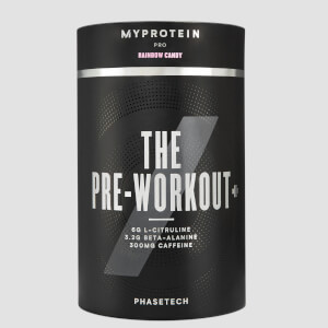 Myprotein THE Pre Workout+ with PhaseTech, Rainbow Candy, 20 Servings