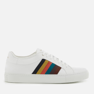 Paul Smith Men's Ivo Artist Stripe Cupsole Trainers - White