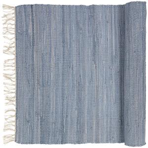 Broste Copenhagen Chindi Cotton Rug - Blue Melange - 70cm x 140cm