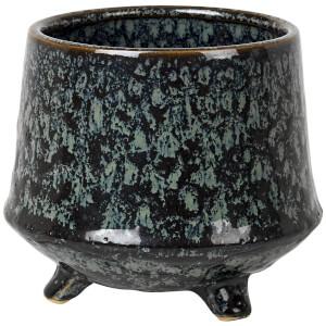 Broste Copenhagen Annie Flowerpot - Stoneware Dark Blue Antique