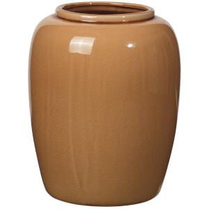 Broste Copenhagen Crackle Ceramic Vase - Indian Tan