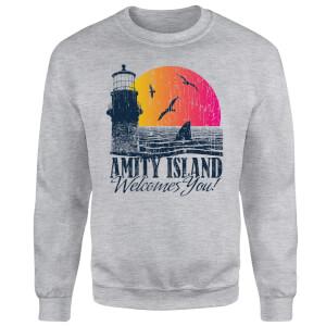 Sweat Homme Les Dents de la mer - Bienvenue à Amity Island - Gris