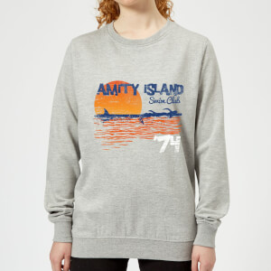 Jaws Amity Swim Club Women's Sweatshirt - Grey