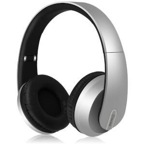 AV: Link Satin Finish Bluetooth 4.2 Headphones with Hard-Shell Case - Silver