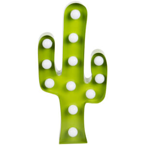 Sass & Belle Cactus Led Wall Decoration - Green