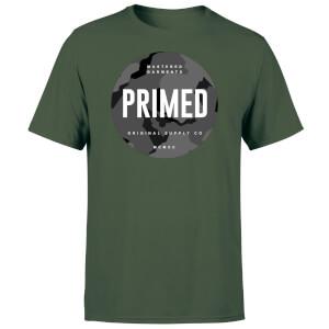 Primed Stamp T-Shirt - Forest Green