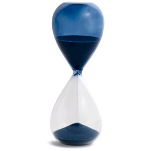 HAY Time Hourglass - 15 Minutes - Petrol Blue
