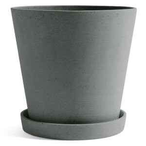 HAY Flowerpot with Saucer - Extra Large - Green