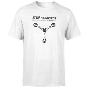 T-Shirt Homme Retour vers le Futur - Rechargé par le Convecteur Temporel - Blanc